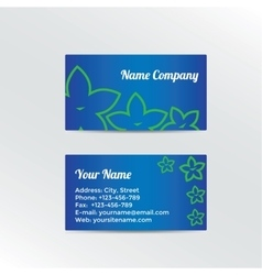 Business card with abstract flowers vector