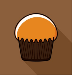 Tasty muffin vector