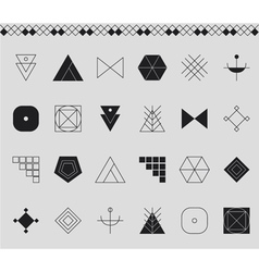 Set of geometric hipster shapes4534411 vector