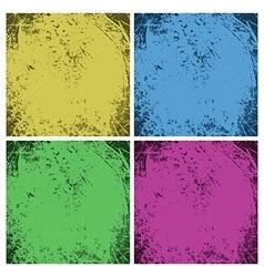 Set of dirty vintage grunge backgrounds vector