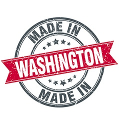 Made in washington red round vintage stamp vector