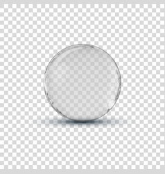 Big white transparent glass sphere ball with vector