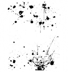Ink splatter grunge design elements vector