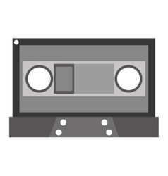 Grey cassette tape vector