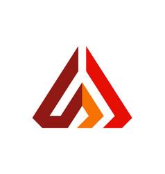 Abstract pyramid line company logo vector