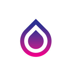 abstract square waterdrop logo vector image vector image