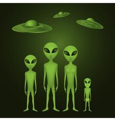 Alien family vector image vector image