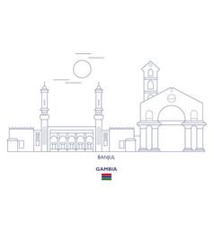Banjul city skyline vector