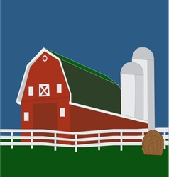 Big red barn vector