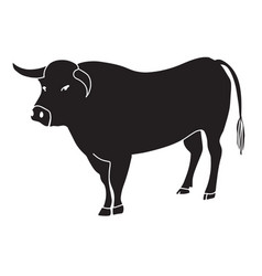 black bull vector image vector image