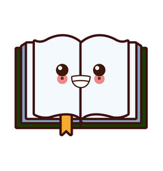 book open symbol kawaii cartoon vector image