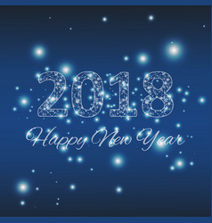 christmas and new year 2018 typographical on vector image