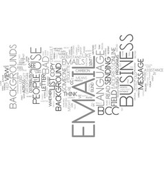 Email etiquette iv text background word cloud vector