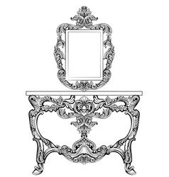 exquisite baroque dressing table engraved vector image vector image