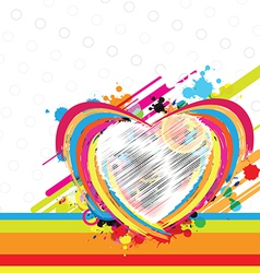 fantastic heart design background vector image vector image