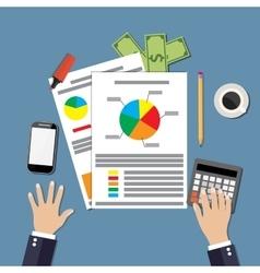 Financial calculations design vector