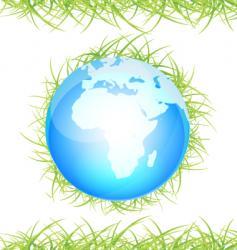 globe grass vector image vector image