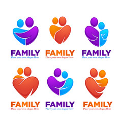 happy family people man woman kids and vector image vector image