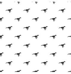 Ornithopod dinosaur pattern vector