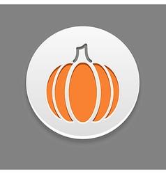 Pumpkin icon vegetable vector
