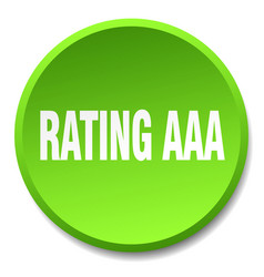 Rating aaa green round flat isolated push button vector