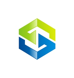 S letter technology logo vector image vector image