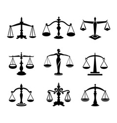scales set vector image
