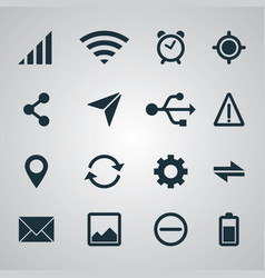 smartphone set ui icons vector image vector image