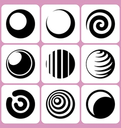 sphere icons set vector image