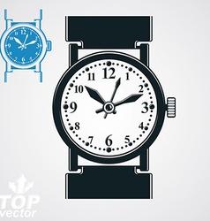 Stylized wristwatch elegant detailed quartz vector