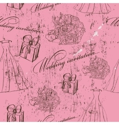 Vintage wedding seamless texture vector image vector image