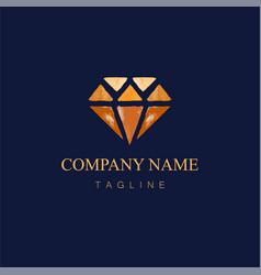 Watercolor diamond logo design2 vector