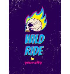 Wild ride CMYK vector image vector image