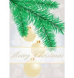 Christmas grey background with evening balls vector