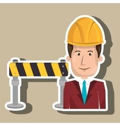 Man construction tool work vector