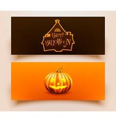 Halloween card set vector