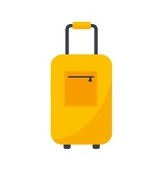 Journey suitcase travel bag vector image