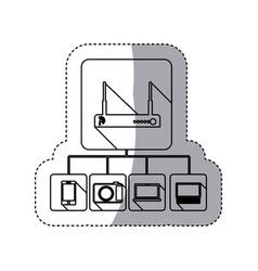Video beam icon stock vector