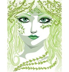 Spring girl face vector image