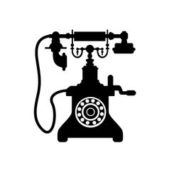 Old vintage telephone vector image