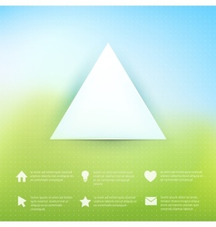 Web elements on natural background vector