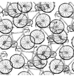 Bicycles seamless pattern simple vector