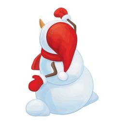snowman back vector image
