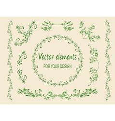 Vintage floral elements vector