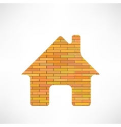 Brick home icon vector