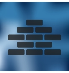 Brickwork icon on blurred background vector