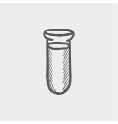 Test tube sketch icon vector