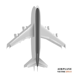 Passenger airplane isolated on white background vector