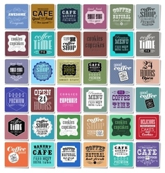 Coffee labels and elements vector