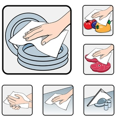 napkin kitchen wash vector image